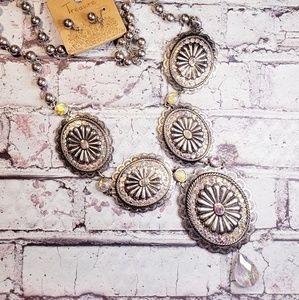 Jewelry - Sparkling concho long statement jewelry set